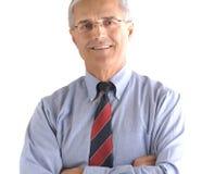 Retrato envelhecido médio do homem de negócios foto de stock