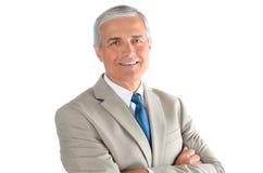 Retrato envelhecido médio do homem de negócios imagens de stock royalty free