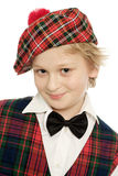 Retrato escocês da estudante foto de stock
