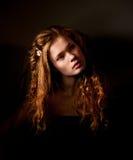 Retrato escuro da bela arte da fantasia foto de stock