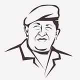 Retrato estilizado del vector de Hugo Chavez