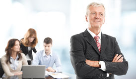 Retrato executivo do homem de negócios Fotografia de Stock Royalty Free