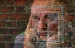 Retrato exposured múltiplo do homem maduro imagem de stock royalty free