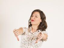 Retrato expresivo de una muchacha hermosa Fotografía de archivo libre de regalías