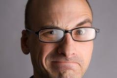 Retrato expressivo do homem foto de stock royalty free