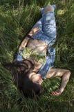 Retrato exterior da mulher 'sexy' Fotografia de Stock Royalty Free