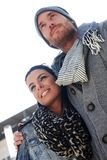 Retrato exterior de pares na moda Foto de Stock Royalty Free