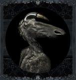 Retrato extranjero oscuro del monstruo de Fantasty Imágenes de archivo libres de regalías