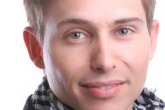 Retrato extremo do close up do homem de negócios novo Imagem de Stock Royalty Free