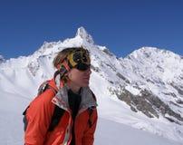 Retrato fêmea do montanhista Fotos de Stock