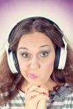 Retrato fêmea engraçado Fotografia de Stock