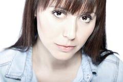 Retrato facial da beleza Imagens de Stock Royalty Free