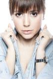 Retrato facial da beleza Foto de Stock Royalty Free