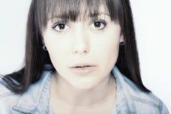 Retrato facial da beleza Imagens de Stock