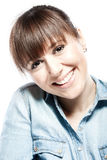 Retrato facial da beleza Fotos de Stock Royalty Free