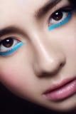 Retrato facial da moça asiática Fotos de Stock Royalty Free