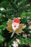 Retrato feito a mão de Santa do Natal Fotografia de Stock Royalty Free