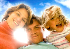 Retrato feliz da família Imagem de Stock