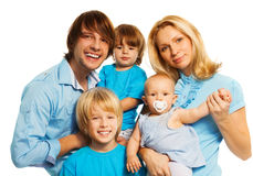 Retrato feliz da família Fotos de Stock Royalty Free