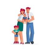 Retrato feliz da família Imagem de Stock Royalty Free