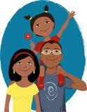 Retrato feliz da família dos desenhos animados Imagem de Stock