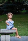Retrato feliz da menina Imagem de Stock