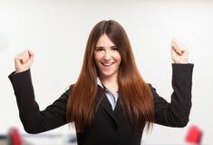 Retrato feliz da mulher imagem de stock