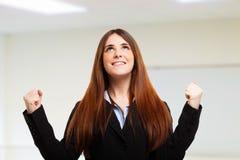 Retrato feliz da mulher fotos de stock