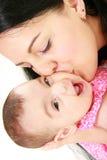 Retrato feliz de la madre y del bebé Fotos de archivo libres de regalías