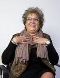 Retrato feliz de la mujer Fotos de archivo