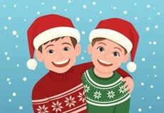 Retrato feliz de la Navidad de los niños Fotos de archivo libres de regalías