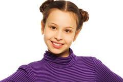 Retrato feliz de la niña Imagen de archivo libre de regalías