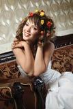 Retrato feliz de la novia Foto de archivo