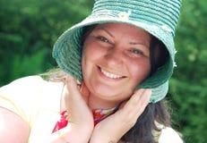 Retrato feliz de la señora Fotos de archivo