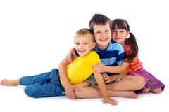 Retrato feliz de los niños foto de archivo