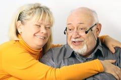 Retrato feliz de los pares, primer Fotografía de archivo libre de regalías