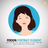 Retrato feliz del carácter - imagen del perfil de la persona Imágenes de archivo libres de regalías