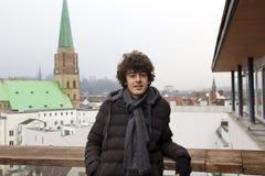 Retrato feliz del muchacho en Bielefeld, Alemania imagen de archivo libre de regalías