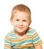 Sorrindo quatro anos de menino idoso Foto de Stock Royalty Free
