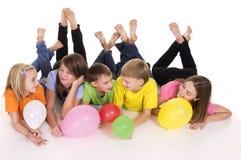 Retrato feliz dos miúdos Foto de Stock Royalty Free