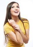 Retrato feliz sonriente de la mujer Foto de archivo libre de regalías
