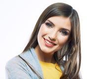 Retrato feliz sonriente de la mujer Fotografía de archivo libre de regalías