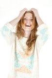 Retrato feliz sonriente de la mujer de los jóvenes Fotos de archivo