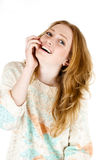 Retrato feliz sonriente de la mujer de los jóvenes Imagen de archivo