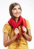 Retrato feliz sonriente de la mujer de los jóvenes Fotografía de archivo libre de regalías