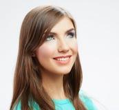 Retrato feliz sonriente de la mujer de los jóvenes Imágenes de archivo libres de regalías