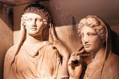 Retrato femenino de la estatua Fotos de archivo