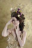 Retrato femenino de la señora linda dentro Imagenes de archivo