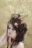 Retrato femenino de la señora linda dentro Imágenes de archivo libres de regalías