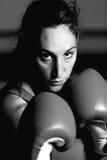 Retrato femenino del boxeador imágenes de archivo libres de regalías